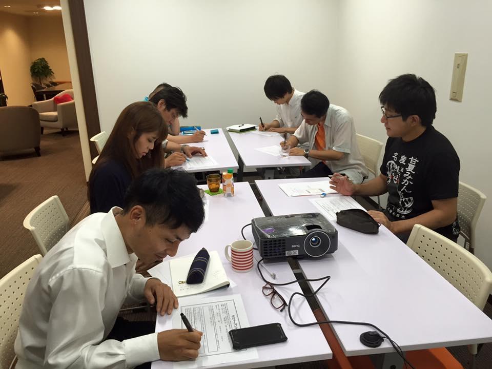 「志起業塾【未来組】」社会課題抽出ワーク中
