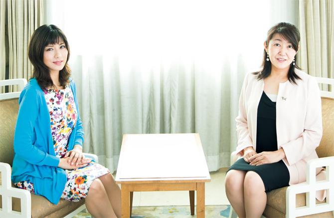 (左)ワーク・ライフバランス社長 小室淑恵さん(右)少子化ジャーナリスト 白河桃子さん